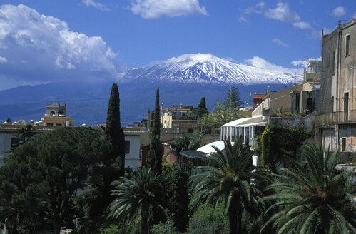 Taormina with mount Etna, Sicily, Italy - 00603HS