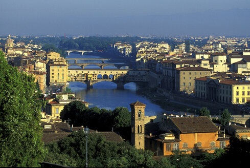 View on Ponte Vecchio from Piazza Michelangelo, Florence, Italy - 00379HS