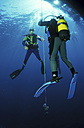 People scuba diving, low angle view - 00489GN