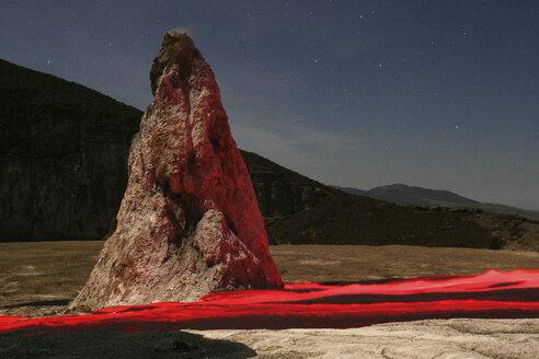 Tanzania, lavastream from Ol Doinyo Lengai volcano in front of hornito - RM00035