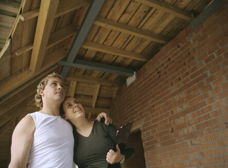 Young couple visiting their future home - PEF00357