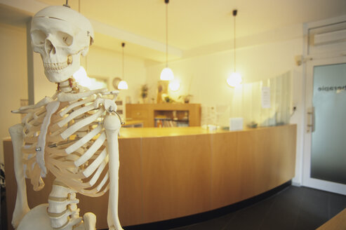 skeleton, office entrance, desk, Stuttgart, Germany - PE00370