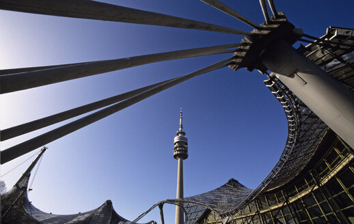 Germany, Bavaria, Munich, Olympiapark with tv tower - HSF00939