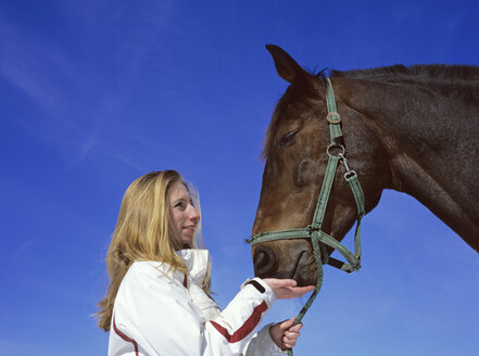 Woman and her horse - PEF00184