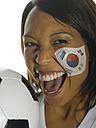 Korean female soccer fan - LMF00044