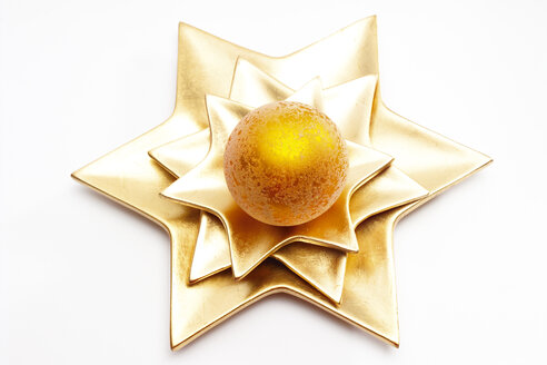 Christmas bauble on star-shaped plate - 09547CS-U