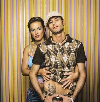 Young couple, retro style - JLF00073