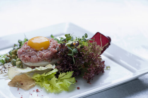 Tartar with raw egg and salad - HOE00063
