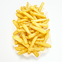 French fries, close-up, elevated view - WESTF00399