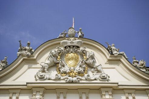 Austria, Vienna, Belvedere Castle, Gable Emblem - WW00112