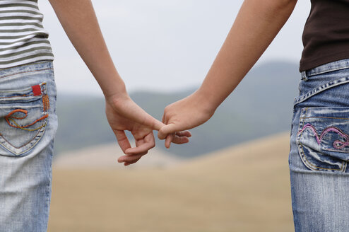 Holding hands, close-up - CRF00955