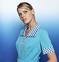 Woman with light blue dress, portrait - JL00199