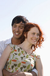Young couple, smiling, close-up - LDF00219