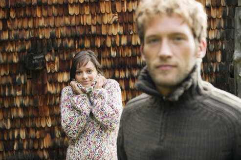 Young couple, focus on woman - BABF00022