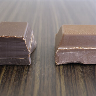 Two pieces of chocolate, close-up - COF00060