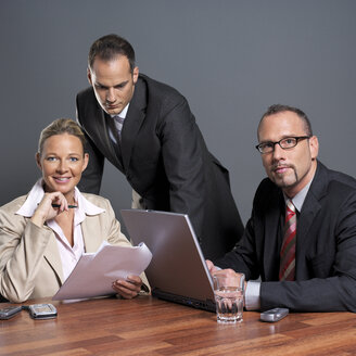 Business people at conference table - JLF00242