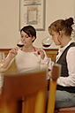 Two women testing wine - WESTF03790