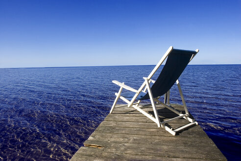 Deck chair on jetty - LDF00393