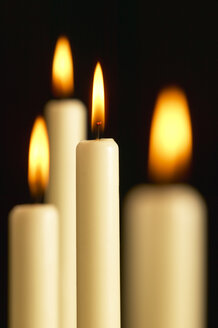 Burning candles, close-up - THF00412