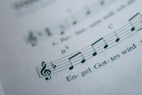 Sheet of music, close-up - NHF00336