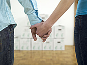 Couple holding hands, close-up - WESTF05211