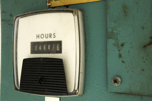 Hours counter, close-up - THF00592