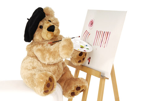 Teddy bear painting - 00304LR-U