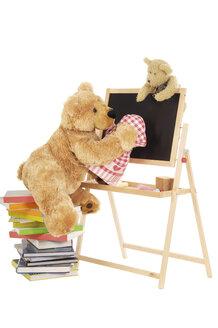 Teddy bear wiping black board - 00299LR-U