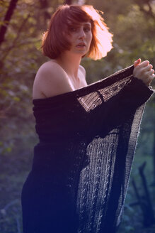 Germany, woman in forest - MF00348