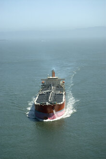 Overhead view of tanker ship - NHF00677