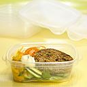 Vegetable burger, close-up - CHK00897