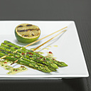 Grilled asparagus, close-up - CHK00861