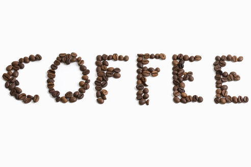 Coffee written with coffee beans - MAEF00755