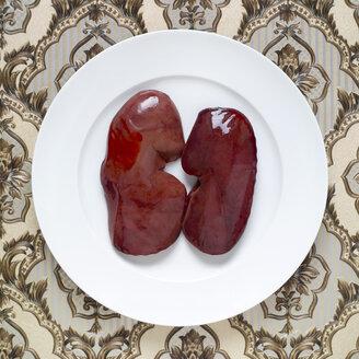 Raw pork liver, elevated view - MU00133