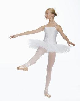 Young ballerina (14-15), dancing, portrait - KMF01161
