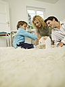 Young family in living room - WESTF06658