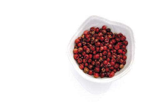 Peppercorns in bowl,  elevated view - 07987CS-U