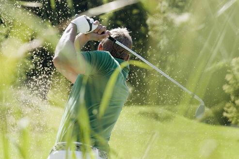 Golf player, rear view - HHF01852