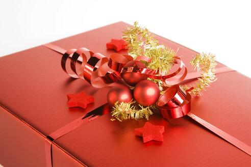 Christmas parcel, close up - GWF00598