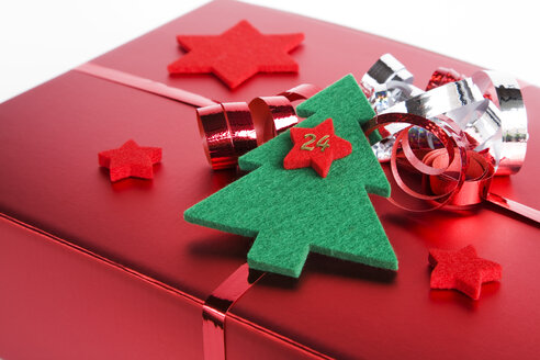 Christmas parcel, close up - GWF00595