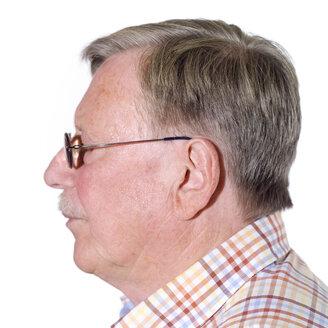 Senior man, portrait, side view - MU00201