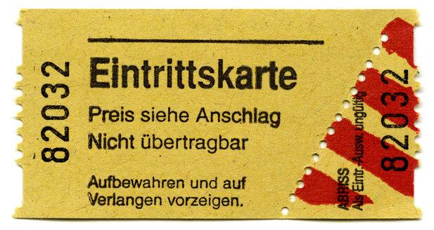 Ticket, close up - THF00768