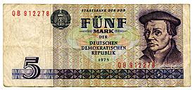 Five mark banknote, German Democratic Republic - TH00729