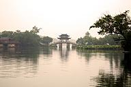 China, Hangzhou, West Lake, Bridge and pavilion - GW00747