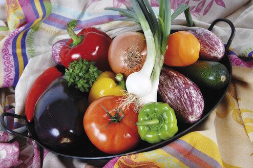 Different vegetable in frying pan - 00430LR-U