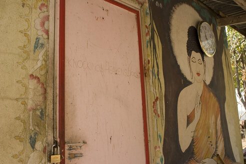 Thailand, Nakhon Ratchasima, Monk colony, wall painting - GA00072