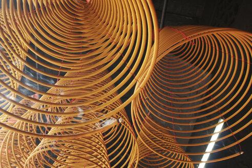 China, Hong Kong, Ma Mo Temple, Spiral coils of incense - GA00051