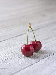 Two cherries, close-up - KSWF00164