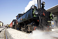 Austria, Tyrol, People and steam engine - FF00911