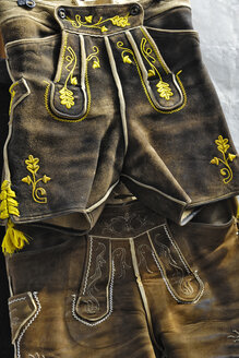 Germany, Bavaria, Munich, Bavarian costume, close-up - MBF00813